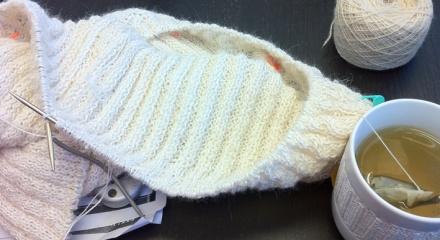 Jacke aus Alpaca 1 (Isager) und Lino 100% (Katia)