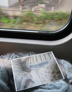 Maschenkunst im Zug... Vielen Dank an Marion