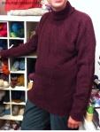 Rollkragenpulli aus Hochlandswolle von Isager