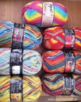 Colorful sock yarn from Opal - Bunte Sockenwolle von Opal