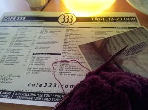 Maschenkunst im Cafe333 - vielen Dank an Isa