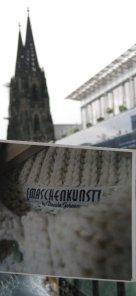 Maschenkunst vor der Kathedrale in Köln - vielen Dank an Marion