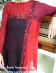 Daniela Johannsenova, Stitch Red Tunic für das Buch Knit Red, www.maschenkunst.de, info@maschenkunst.de