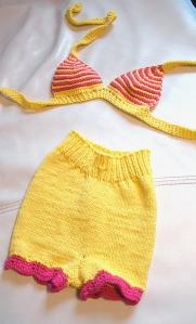 Bikini -Hotpants für große Mädels