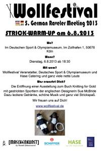 Strick-Warm-Up Maschenkunst, Wollfestival, Köln